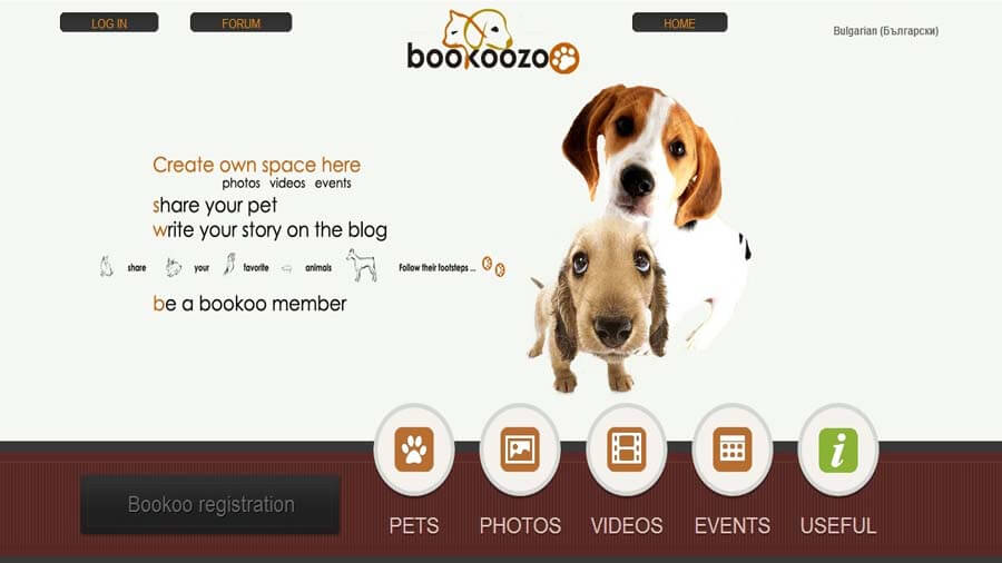 Website bookoozoo.com